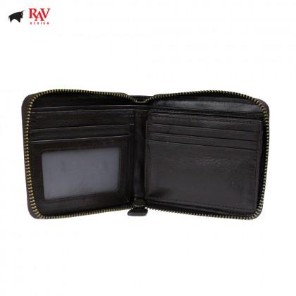 RAV DESIGN Men Genuine Cow Leather Short Wallet |RVW628 SERIES