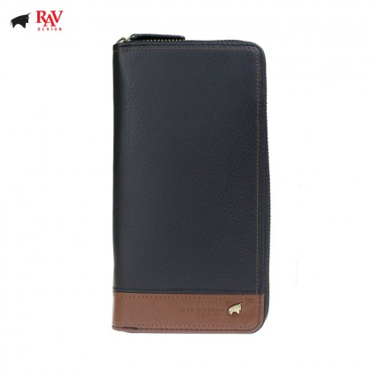 RAV DESIGN Men Genuine Cow Leather Long Wallet SERIES |RVW619G1