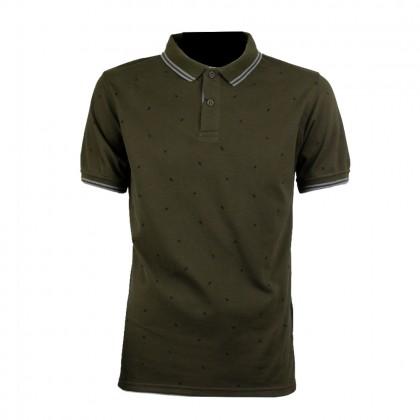Rav Design Men Polo T-Shirt Army Green |RCT30642092