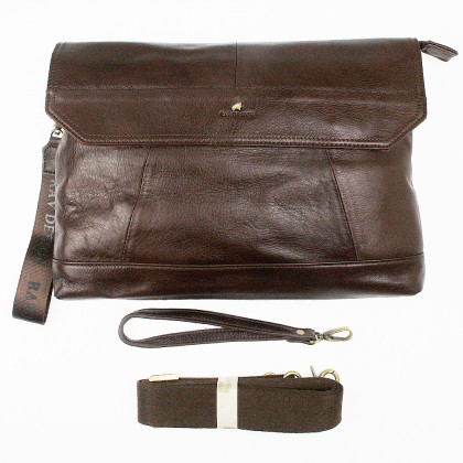 RAV DESIGN Leather Clutch with Detachable Strap |RVS459G2