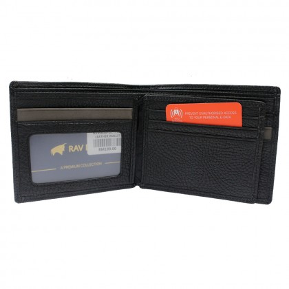 RAV DESIGN Leather Anti-RFID Short Wallet |RVW638G1