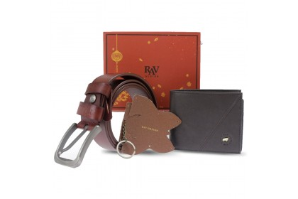RAV Design Gift Set Bifold Wallet & Belt Bonded Leather RVG044G2(A)