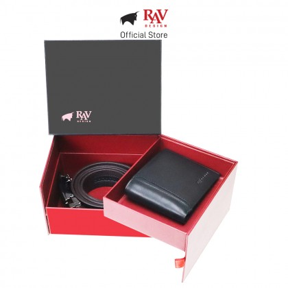 RAV Design Gift Set Bifold Wallet & Belt Bonded Leather RVG040G2