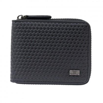 RAV DESIGN Leather Men Anti-RFID Zipper Closure Short Wallet  RVW640G2