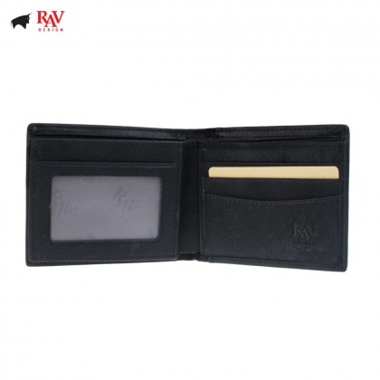 RAV DESIGN Genuine Leather Men Anti-RFID Short Wallet |RVW629 Series