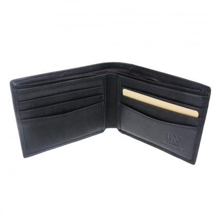 RAV DESIGN Genuine Leather Men Anti-RFID Short Wallet |RVW629 Series