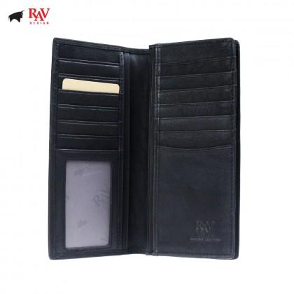 RAV DESIGN Genuine Leather Men Anti-RFID Long Wallet |RVW629G2(C)