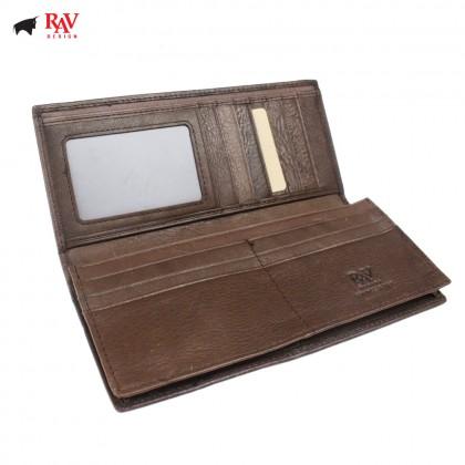 RAV DESIGN Genuine Leather Men Anti-RFID Long Wallet |RVW630G2(C)