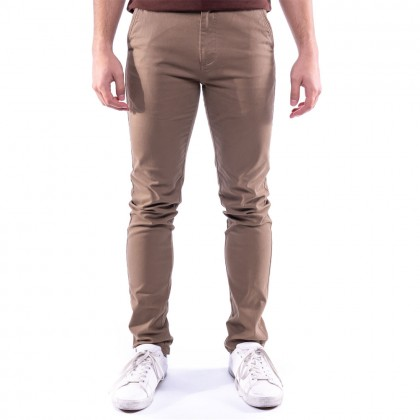 Rav Design Men's Long Pant Slim Fit Chino Brown  RLP29822592