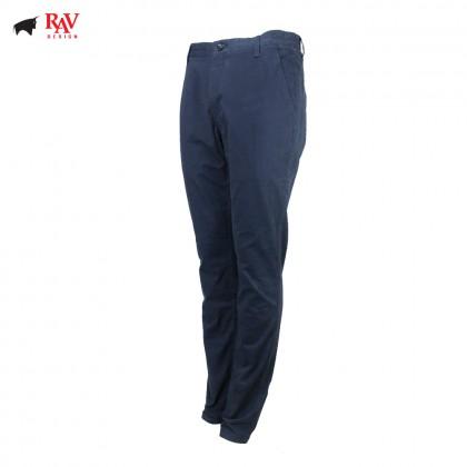 Rav Design Men's Long Pant Slim Fit Chino Navy RLP29812591