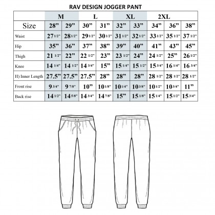 Rav Design Men's Jogger Pant Black RSLP2748BBBK