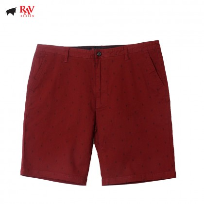 Rav Design Men's Bermudas Short Pant Red |RSP3093B2091