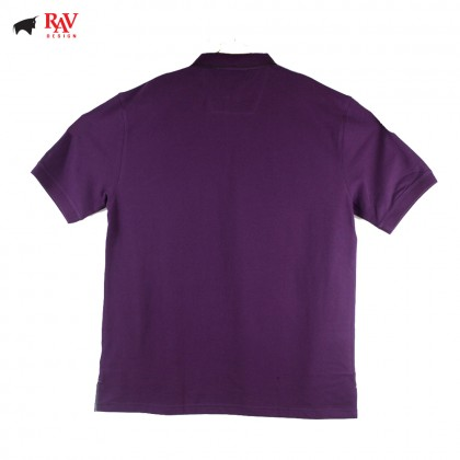 Rav Design Mens Short Sleeve Polo Shirt Purple |RCT30213291