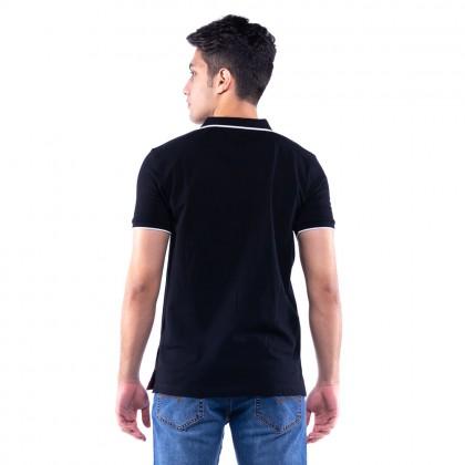 Rav Design Mens Short Sleeve Polo T-Shirt Black  RCT30762091