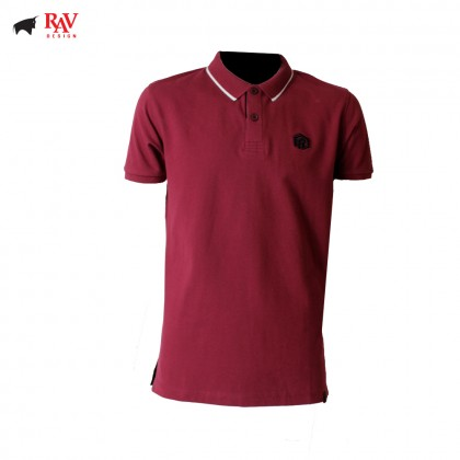 Rav Design Men's Short Sleeve Polo T-Shirt Shirt Red |RCT30762092