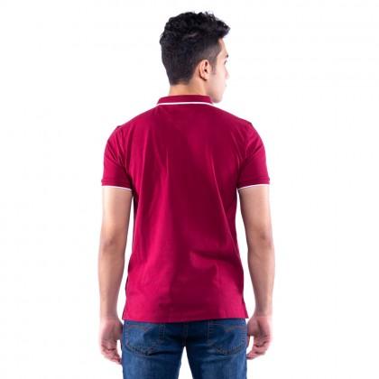 Rav Design Men's Short Sleeve Polo T-Shirt Red |RCT30762092