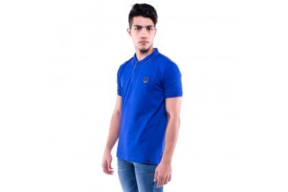 Rav Design Men's Short Sleeve Polo T-Shirt Shirt Blue |RCT30772091