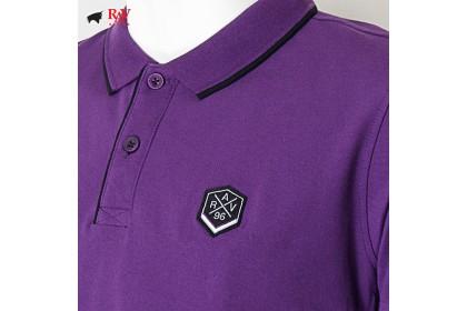Rav Design Men's Short Sleeve Polo T-Shirt Shirt Purple |RCT30772092