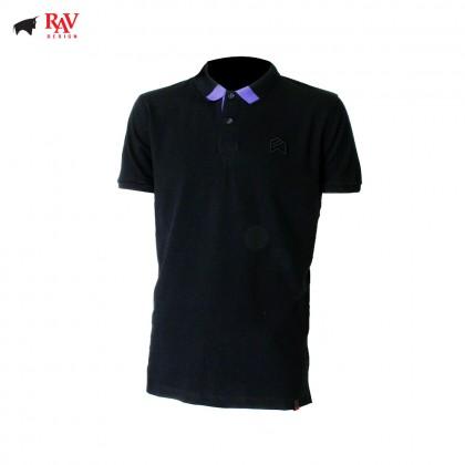 Rav Design Men's Short Sleeve Polo T-Shirt Shirt Black  RCT30782092
