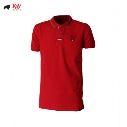 Rav Design Men's Short Sleeve Polo T-Shirt Shirt Red |RCT30792091