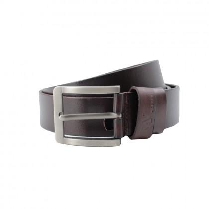 Rav Design Men's 100% Genuine Cow Leather 38mm Pin Buckle Belt Brown |RVB571G1