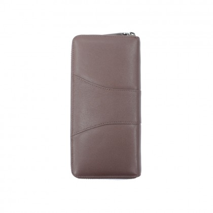 RAV DESIGN Men's Genuine Leather Anti-RFID Long Zip Wallet  RVW670G2 (C)