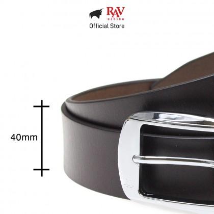 RAV DESIGN Men's 100% Genuine Cow Leather 40MM Pin Buckle Belt Brown |RVB562G1