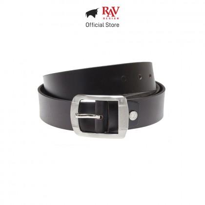 RAV DESIGN Men's 100% Genuine Cow Leather 40MM Pin Buckle Belt Brown  RVB566G1