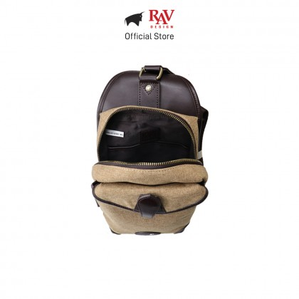 RAV DESIGN Men's Canvas with Leather Trimmings Crossbody Bag |RVC456G2