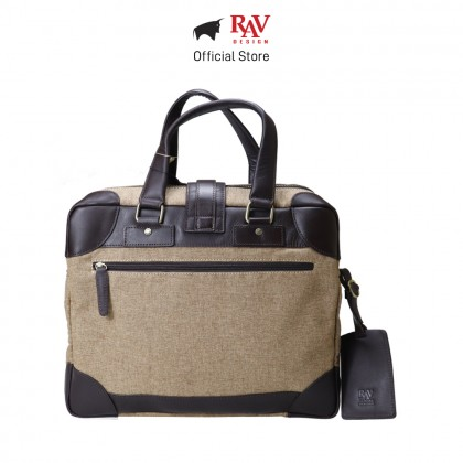RAV DESIGN Men's Canvas with Leather Trimmings Document Bag |RVC456G4