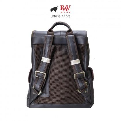 RAV DESIGN Men's Genuine Leather Backpack |RVC470G2