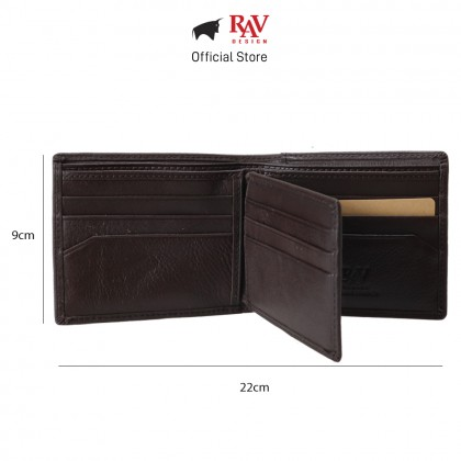 RAV DESIGN Men's Genuine Leather Wallet Money Clip |RVW658 Series
