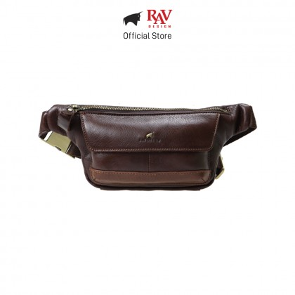 RAV DESIGN Men's Genuine Leather Belt Bag |RVY461 Series