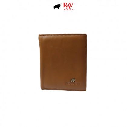 RAV DESIGN Men's Genuine Leather Anti-RFID Wallet |RVW673G1 (B)