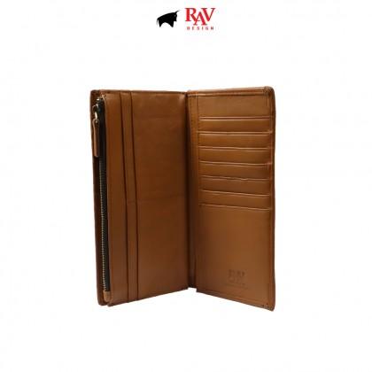RAV DESIGN Men's Genuine Leather Anti-RFID Wallet |RVW673G2 (C)