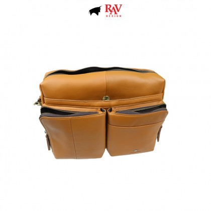 RAV DESIGN 100% Genuine Leather Messenger Document Sling Bag |RVC485G3 series