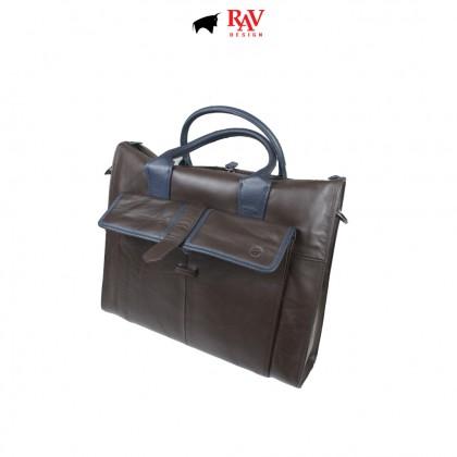 RAV DESIGN 100% Genuine Leather Briefcases Bag |RVC486G5 series