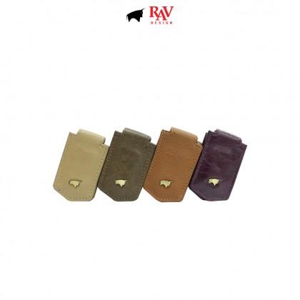 RAV DESIGN 100% LEATHER MEN MONEY CLIPPER |RVM553G1 (RANDOM COLOUR)