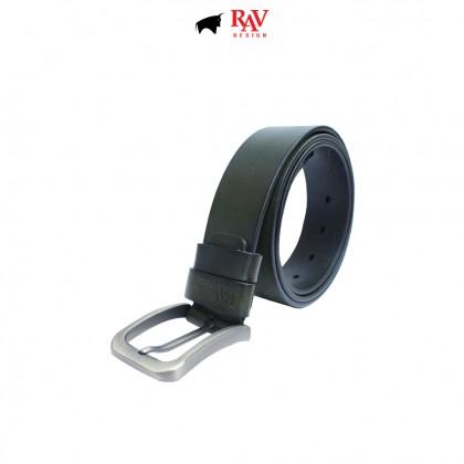 RAV DESIGN Men's 100% Genuine Cow Leather 40MM Pin Buckle Belt Olive  RVB584G1