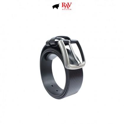 RAV DESIGN Men's 100% Genuine Cow Leather 40MM Pin Buckle Belt Black |RVB586G1