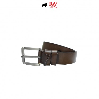 RAV DESIGN Men's 100% Genuine Cow Leather 40MM Pin Buckle Belt Brown |RVB588G1