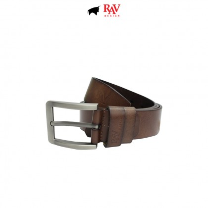 RAV DESIGN Men's 100% Genuine Cow Leather 40MM Pin Buckle Belt Brown |RVB590G1