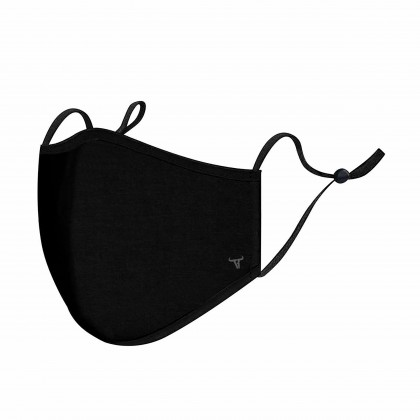RAV DESIGN Cotton Blend Reusable & Washable 3 Layers Fabric Mask with Adjustable Buckle Adult Size |RAV038