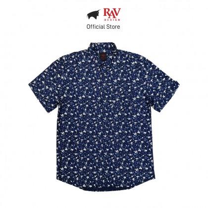 RAV DESIGN 100% Cotton Woven Shirt Short Sleeve |RSS31722001