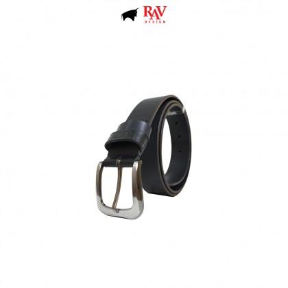 RAV DESIGN Men's 100% Genuine Leather 35MM Pin Buckle Belt |RVB606G1 Series
