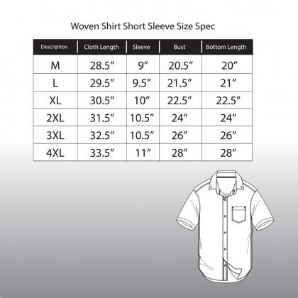 RAV DESIGN 100% Cotton Woven Shirt Short Sleeve  RSS32112012