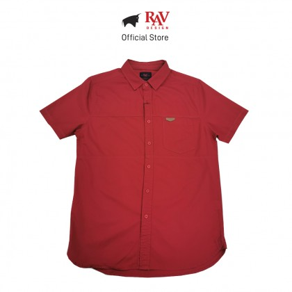 RAV DESIGN 100% Cotton Woven Shirt Short Sleeve |RSS32132011