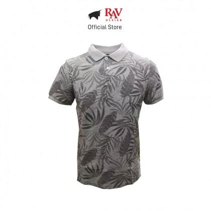 RAV DESIGN MEN'S SHORT SLEEVE POLO T-SHIRT GREY |RCT34182001