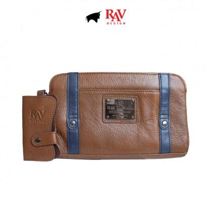 RAV DESIGN 100% Genuine Leather Clutch Bag With Keyholder  RVC419G1