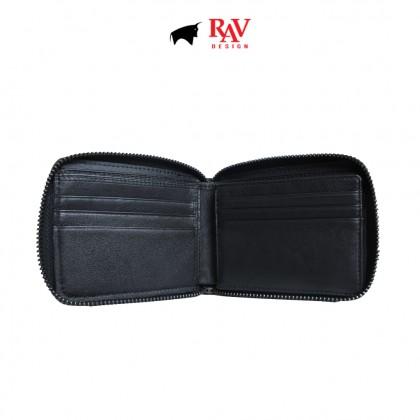 RAV DESIGN Men's Genuine Leather Zip Round Wallet  RVW519G2